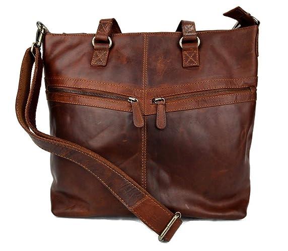 c9f9af9fab1f Ladies buffalo leather brown handbag womens shoulder bag leather ...