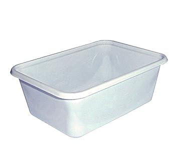 Unidades 100 bandejas para alimentos de plástico blanca P8 recipiente para patatas aceitunas ascolane mozzarelline y