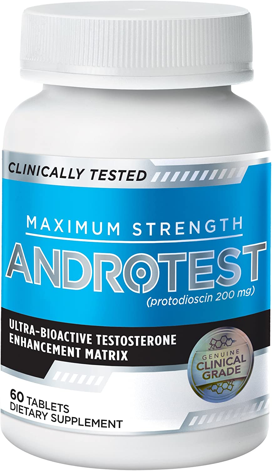 AndroTest - Clinically Validated Testosterone Support Matrix - Up To 275% Increase in Total Testosterone, 60 Tablets