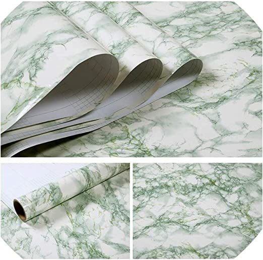 Wall Stickers Marble Self Adhesive Wallpaper for Bathroom Kitchen PVC Waterproof
