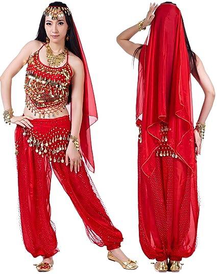 UK Womens Belly Dance Chiffon Silk Shawl Veil Indian Dancing Costume Accessories