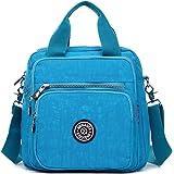 TianHengYi Girls Multifunction Water Resistant Nylon Top Handle Handbag Crossbody Satchel Purse Backpack