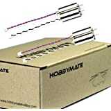 HOBBYMATE 8520 8.5x20mm Brushed Coreless Motors for Micro FPV Quadcopter Drone, Support 2S 7.4v Lipo Battery (Pack of 4)