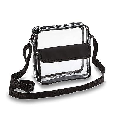 1504128159bc Amazon.com  Clear Crossbody Messenger Shoulder Bag with Adjustable ...