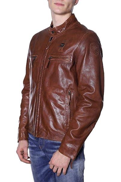 Blauer PELLE CAPO Giacca di pelle brown Uomo Coreana
