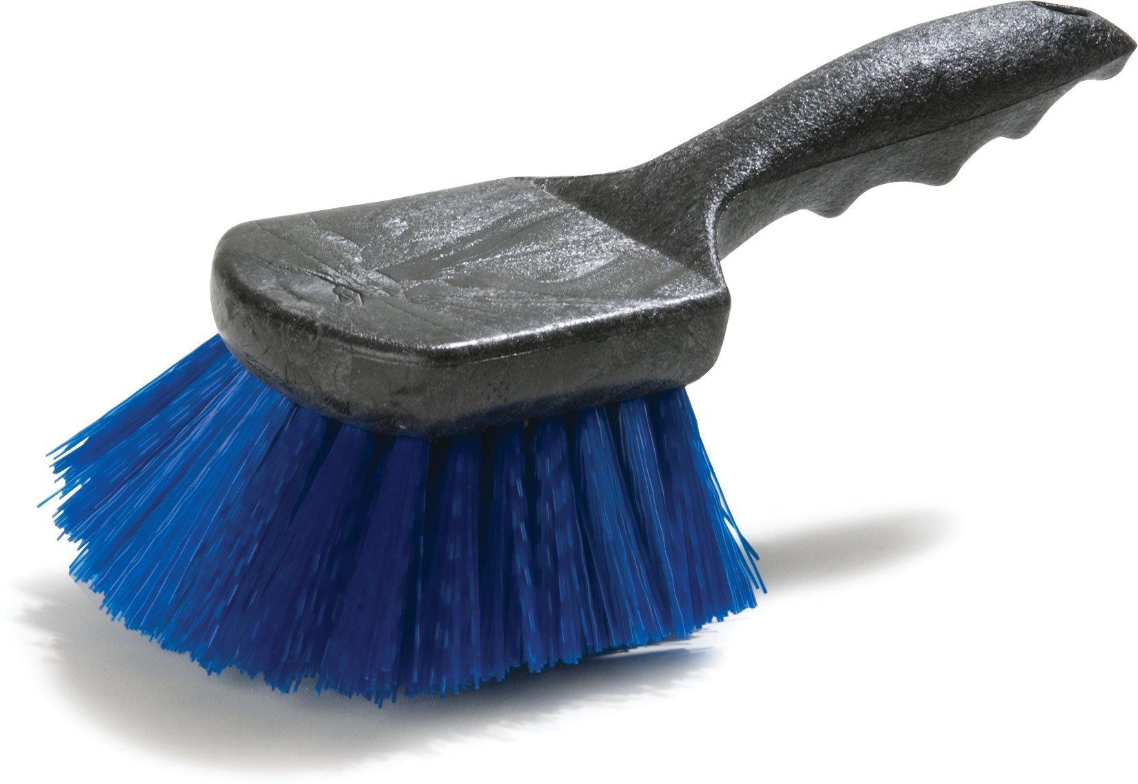 Carlisle 3650514 Sparta Plastic Block Utility Scrub Brush, Polypropylene Bristles, 2'' Bristle Trim, 8-1/2'' Length x 3'' Width, Blue (Case of 12)