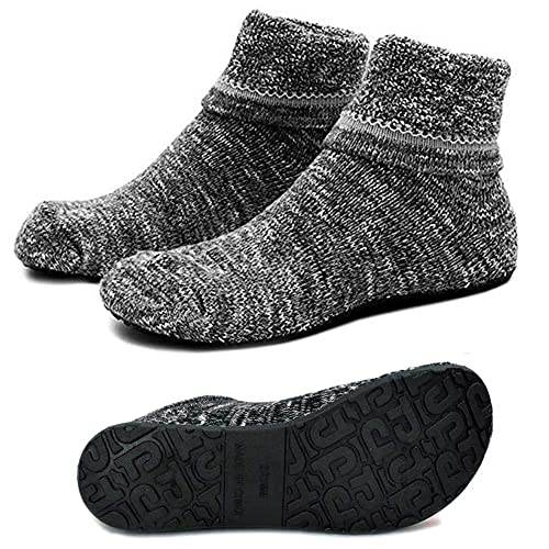 a8189e1d7b9 Womens Non-Slip Knit Slipper Socks Cozy Fuzzy Warm Indoor Floor Work Socks  with Thick