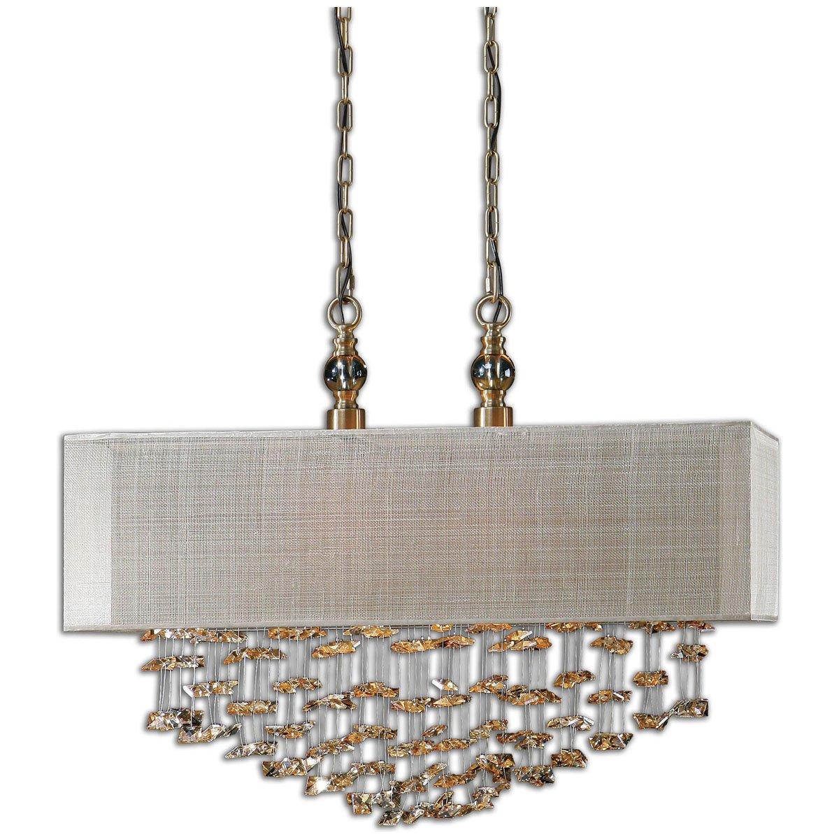 amazoncom uttermost santina 2 light shade pendant home u0026 kitchen - Uttermost Lighting