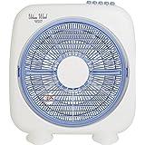 山善(YAMAZEN) 25cmボックス扇風機 (押しボタンスイッチ)(風量3段階) ホワイトブルー YBS-B256(WA)
