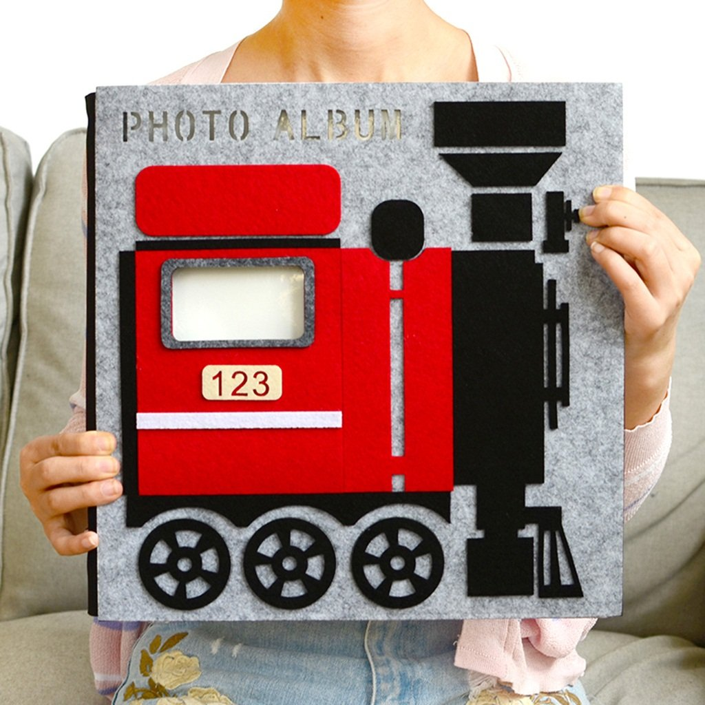 LANNA SHOP- Creative Cartoon Photo Album, Handmade Anniversary Album, Wedding Album, Baby Growth Memo Album, For 650 Photos (32x32.4x6cm) by Photo Album Company