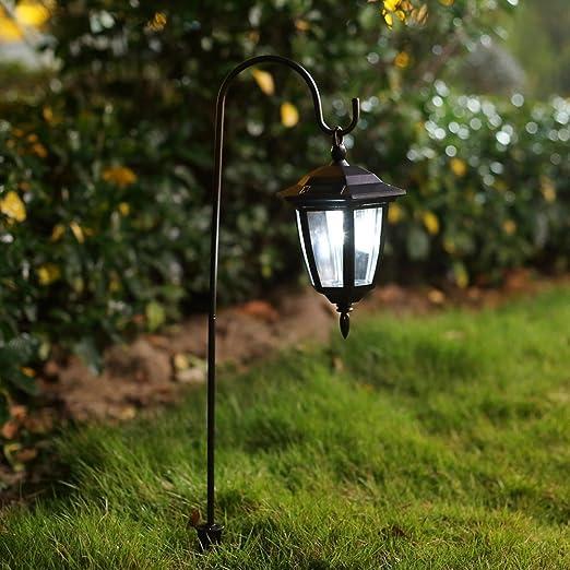 Ohuhu® 2 Piezas luz Solar de jardín lámpara LED Exterior alimentata Dal Sol Farol para jardinería/Outdoor/Abierto/Patio/viottolo/Mura/Suelo con Montaje para Colgar: Amazon.es: Hogar