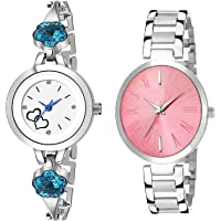 KDENTERPRISE Women Multi Color Analog Watch Combo Pack of 2