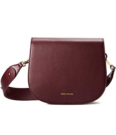 Buy EMINI HOUSE Women Simple Stylish Saddle Bag Wide Strap Crossbody Bag-Wine  Red Online at Low Prices in India - Amazon.in d6b42be92