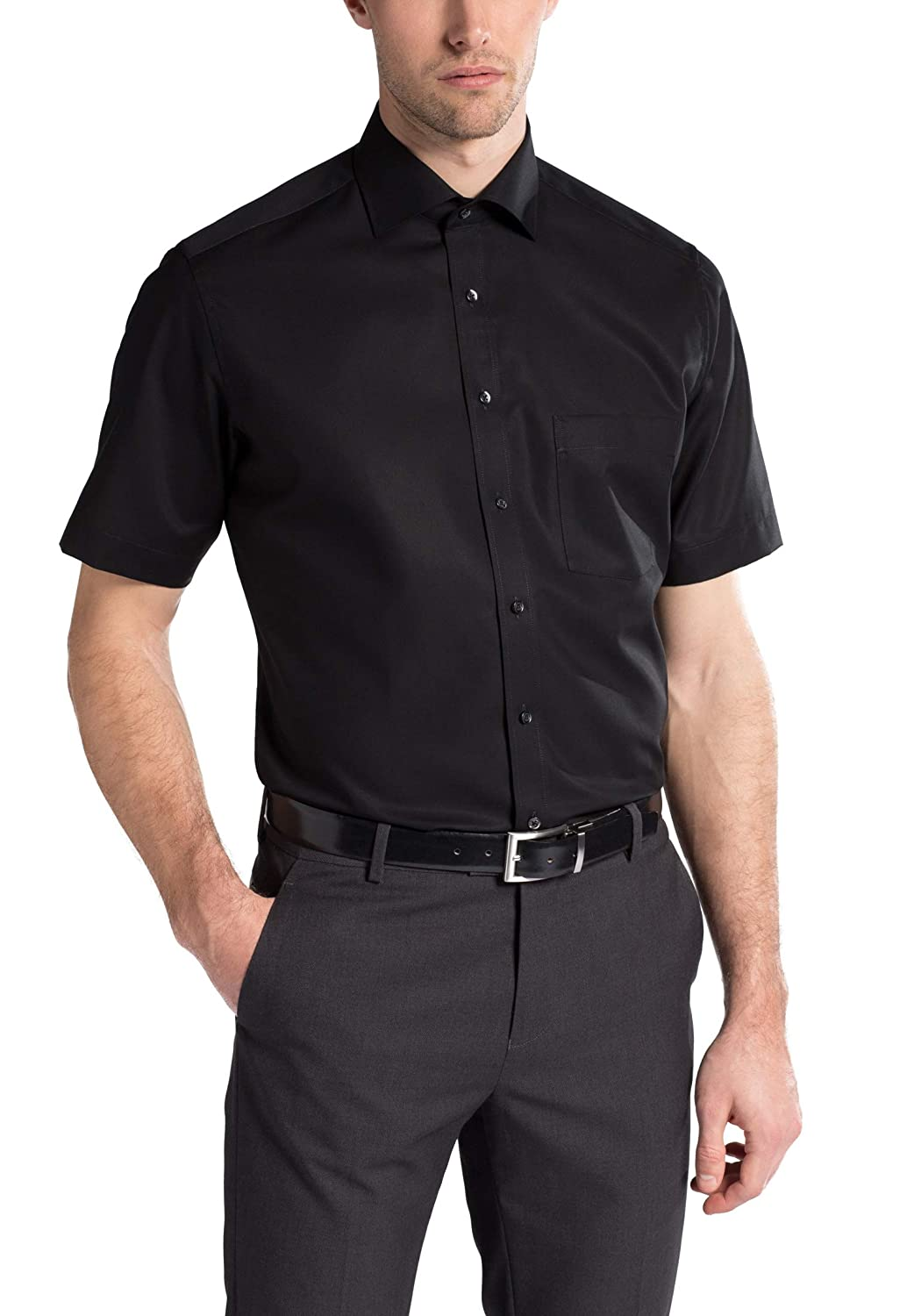 Eterna Half Sleeve Shirt Modern FIT Poplin Uni