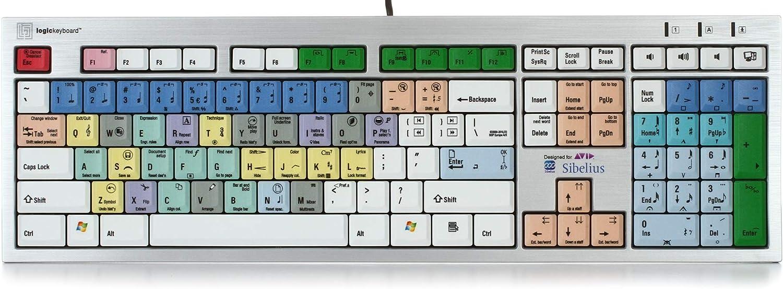 Logickeyboard Slim Line PC Keyboard Avid Sibelius
