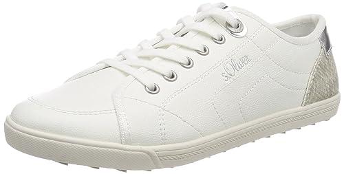 S.oliver 23631, Chaussures Femme, Blanc (blanc / Argent), 41 Eu