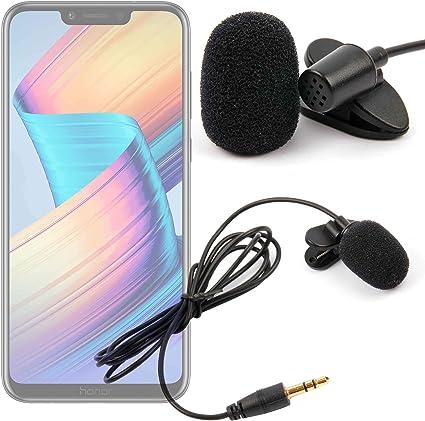 DURAGADGET Micrófono de Solapa/Clip Lavalier, omnidireccional para Smartphone Huawei Honor Play, Huawei Mate 20 Lite: Amazon.es: Electrónica