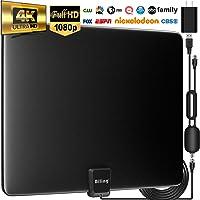 $25 » Biling TV Antenna for Digital TV Indoor, 90-130 Miles Digital Antenna Indoor Amplified HD…