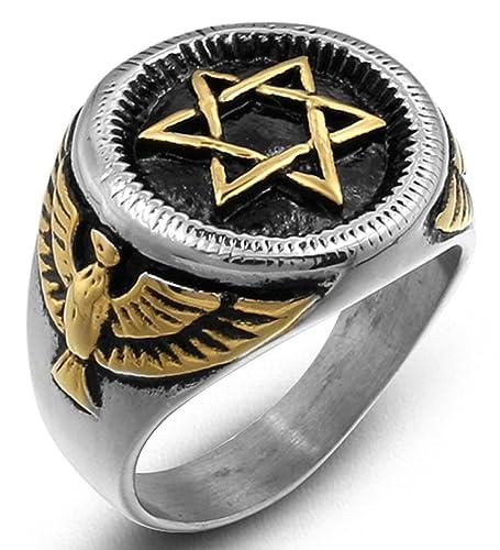 ddolaa Siver y dorado estilo medallón de acero inoxidable ...