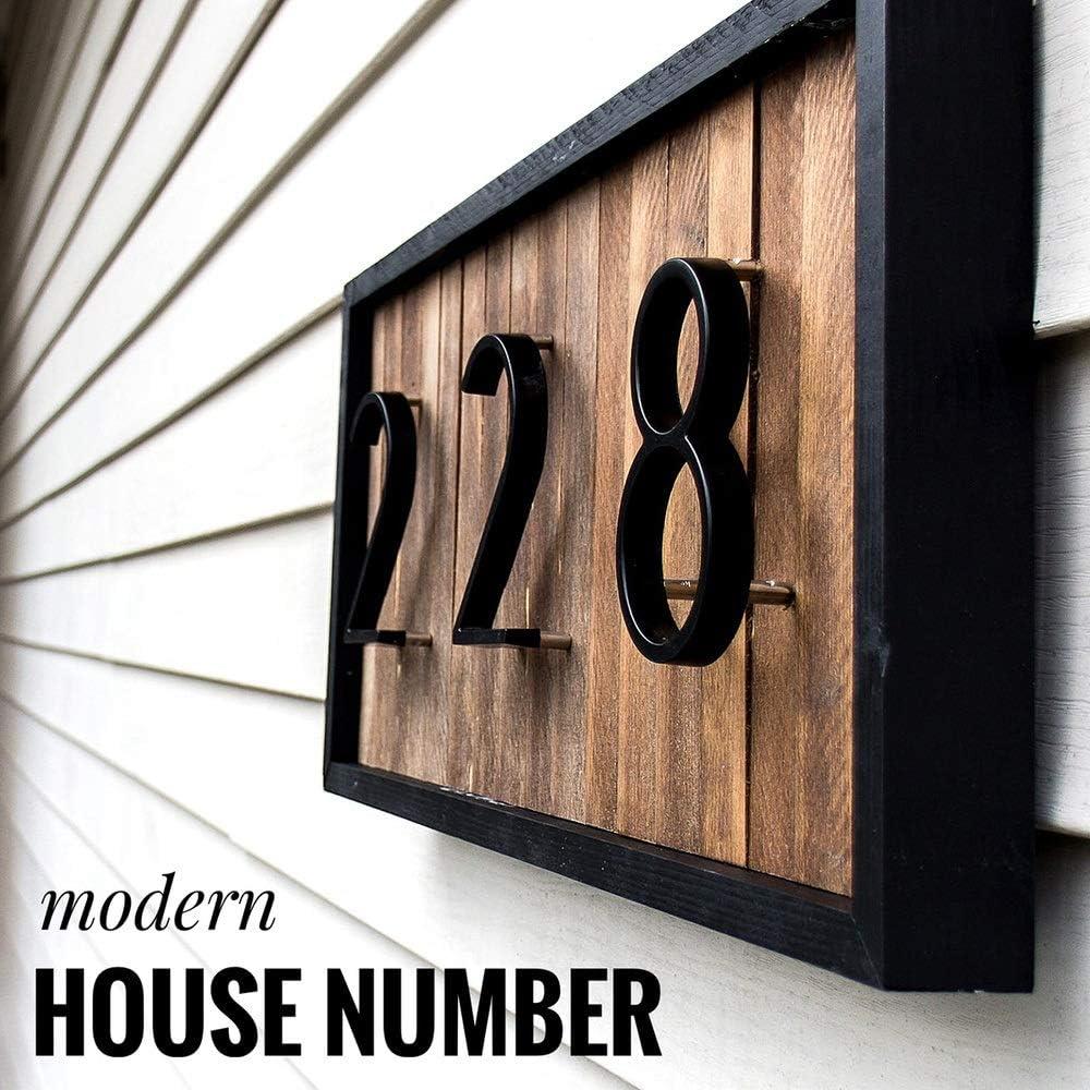 Numero de casa 127 mm de Big Modern House Hotel Home N/úmero N/úmero Exterior Puerta placa de direcci/ón de aleaci/ón de zinc N/úmero de House Direcci/ón Se/ñal Color : 7