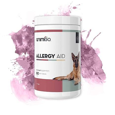 Animigo Ayuda para La Alergia En Perros - 60 Cápsulas Blandas
