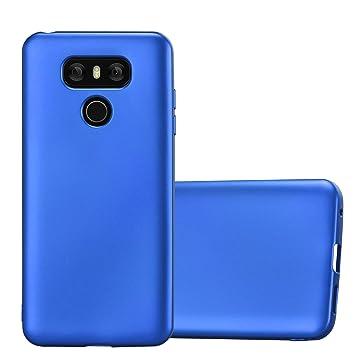 Cadorabo Funda para LG G6 en Metallic Azul – Cubierta Proteccíon de Silicona TPU Delgada e Flexible con Antichoque – Gel Case Cover Carcasa Ligera