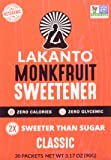 Lakanto Monk Fruit Sweetener Packets (Classic, 30 Count)