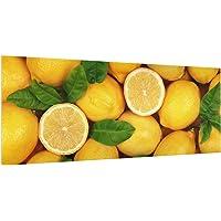 Bilderwelten Paraschizzi in Vetro - Juicy Lemons - Panoramico, Paraschizzi Cucina Pannello paraschizzi Cucina paraspruzzi per Piano Cottura Pannello per Parete Cucina