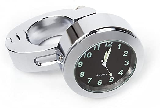 Suntime Universal Wasserdichte Uhr Motorrad Lenkerhalterung Uhr Fit 7 8 Oder 1 Lenkeruhr Für Motorrad Roller Radfahren Auto