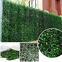 Sunwing Greenery Artificial Boxwood Panel Privacy Fence Screen Outdoor Decor 20''x20'' Inches/pc (Pack of 6pcs)