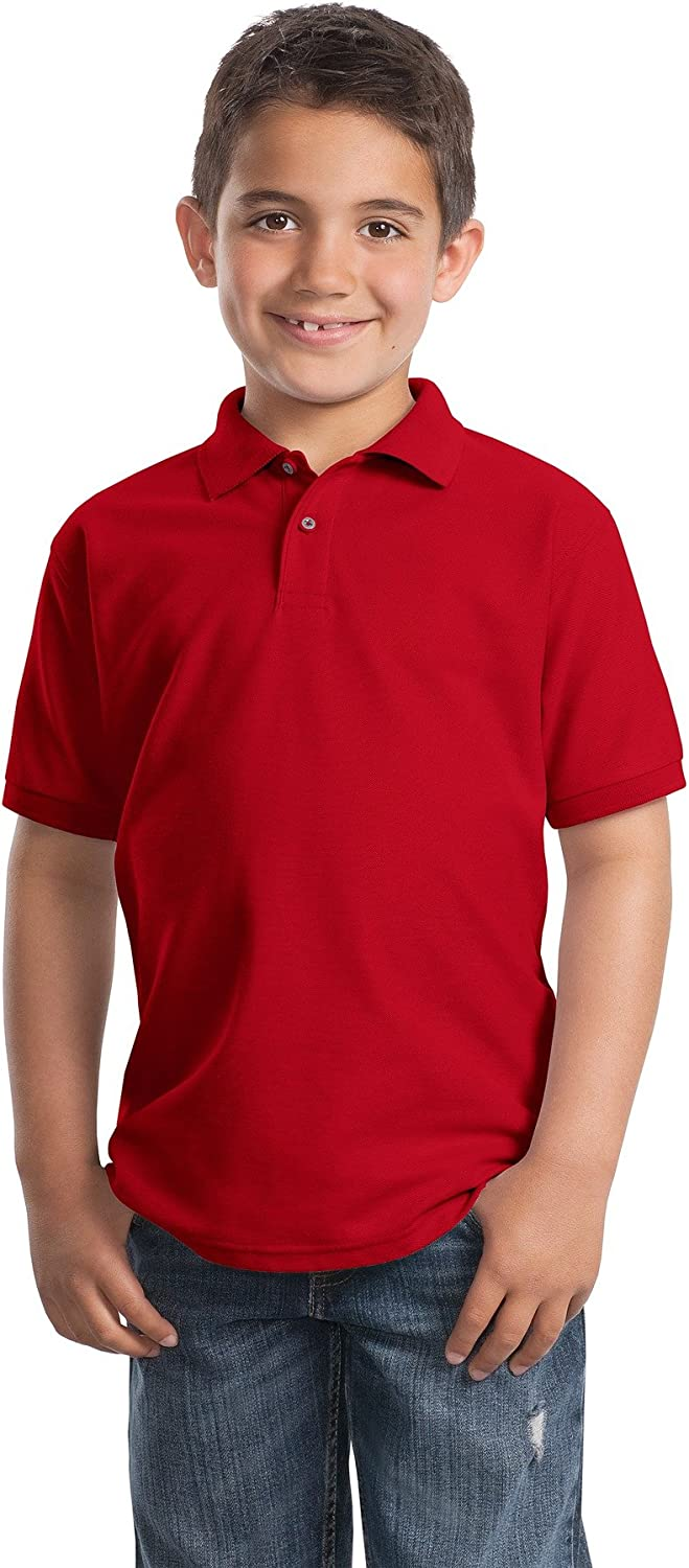 Port Authority Big boys Youth Silk Touch Polo