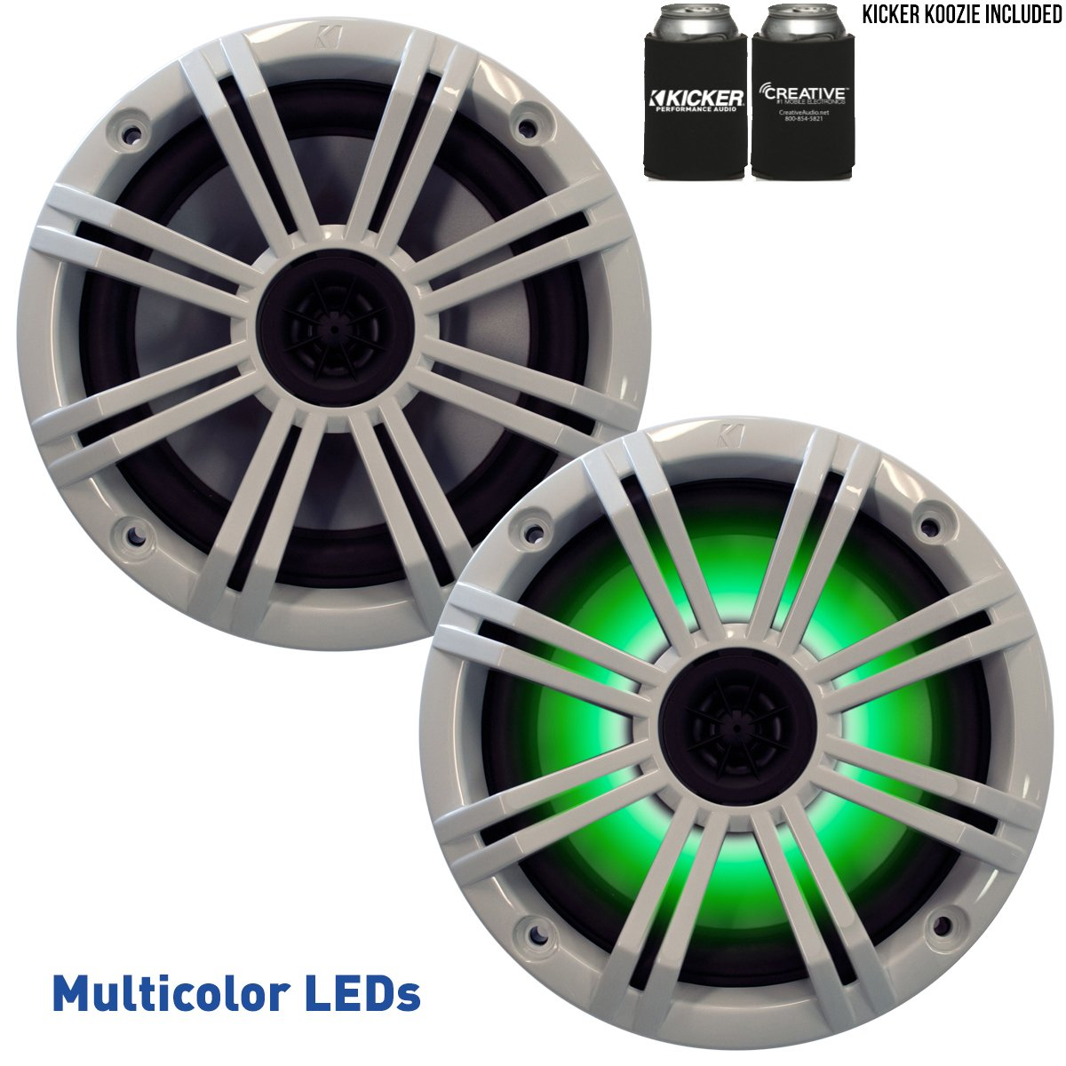 Kicker 6.5'' White LED Marine Speakers (QTY 2) 1 pair of OEM replacement speakers