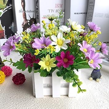 WENZHE Gefälschte Pflanze Künstliche Blumen Heimzubehör Wandbehang Zaun  Blumen Einstellen Zuhause Wohnzimmer Party Ornament Landhausstil,