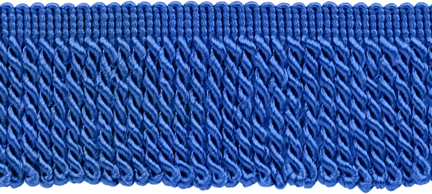 I6 Style# EF25 Color: Persian Blue D/ÉCOPRO 10 Yard Value Pack of 2.5 Inch CobaLight Blue Bullion Fringe Trim 30 Ft // 9 Meters