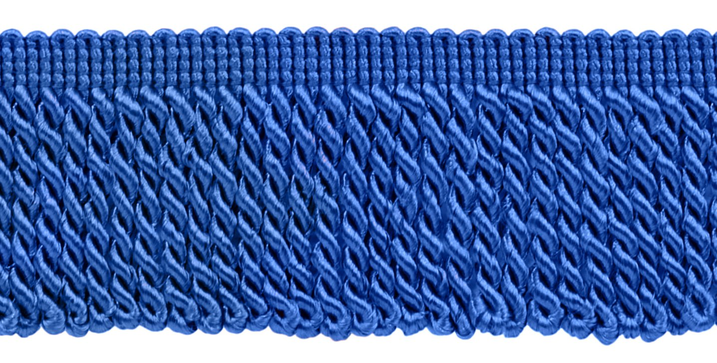 DÉCOPRO 10 Yard Value Pack|2.5 Inch Royal Blue Bullion Fringe Trim|Style# EF25|Color: Cobalt Blue - I6 (30 Ft / 9 Meters) by DÉCOPRO
