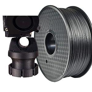 PRILINE Carbon Fiber Polycarbonate 1KG 1.75 3D Printer Filament, Dimensional Accuracy +/- 0.03 mm, 1kg Spool, 1.75 mm,Black