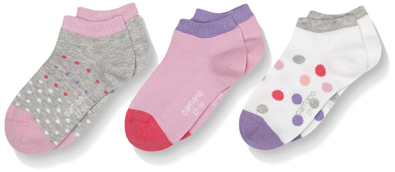 Camano Calcetines para Deportivas y Botines para Niñas (Pack de 3) Rosa (Pink Lavender) 35-38(Pack de 3) 3135