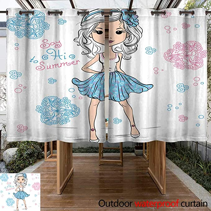 Amazon com : Outdoor Curtain for Patio Vector face Set W63 x