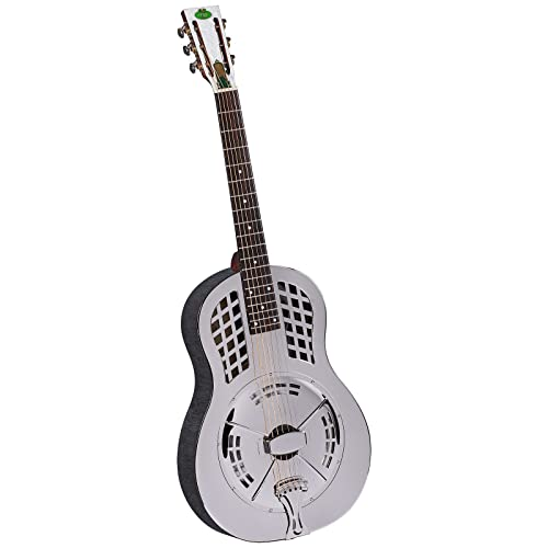 Regal RC-55 Metal Body Tricone Resophonic Guitar - Nickel-Plated Brass