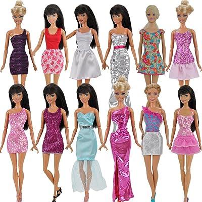 5 pièces Mode Mini Robe Pour PoupéE Barbie Handmade Court Fête Robes Vêtements by Fat-catz-copy-catz