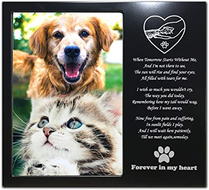 Dog Cat Pet Memorial Photo Frame Personalised Pet Loss Remembrance Photo Frame