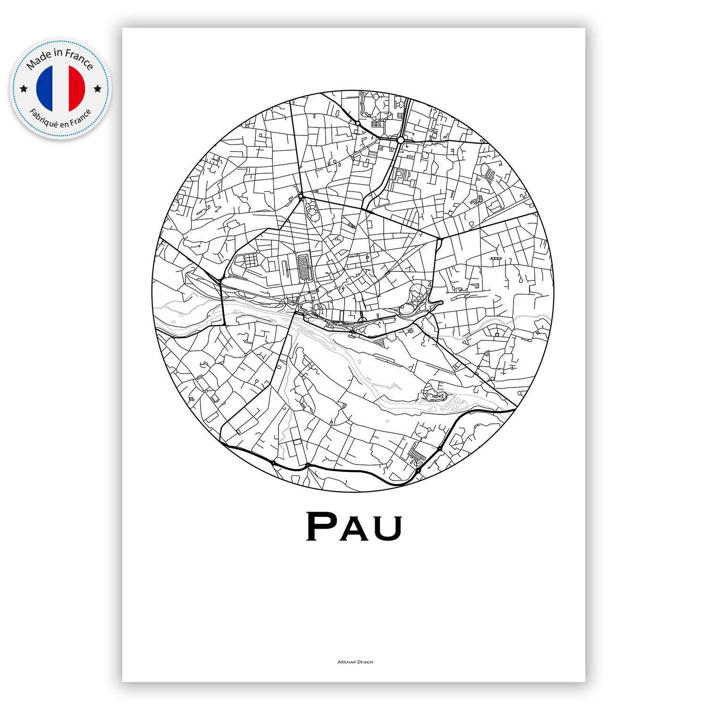 Poster Affiche Riga Lettonie Minimalist Map City Map Cr/éation originale handmade Plan de ville