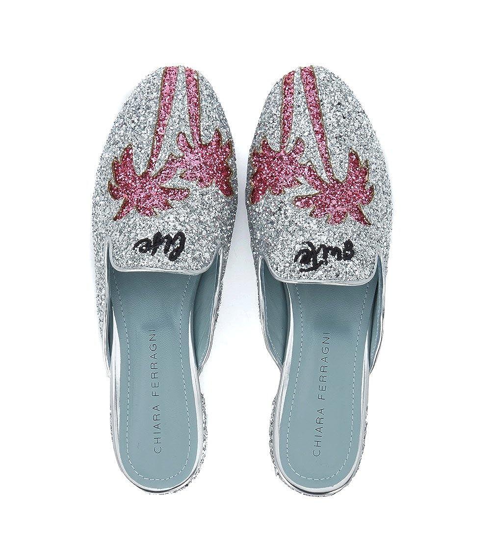 Mules Chiara Ferragni Suite in Glitter Argento  Amazon.de  Schuhe    Handtaschen c84ff0dda9