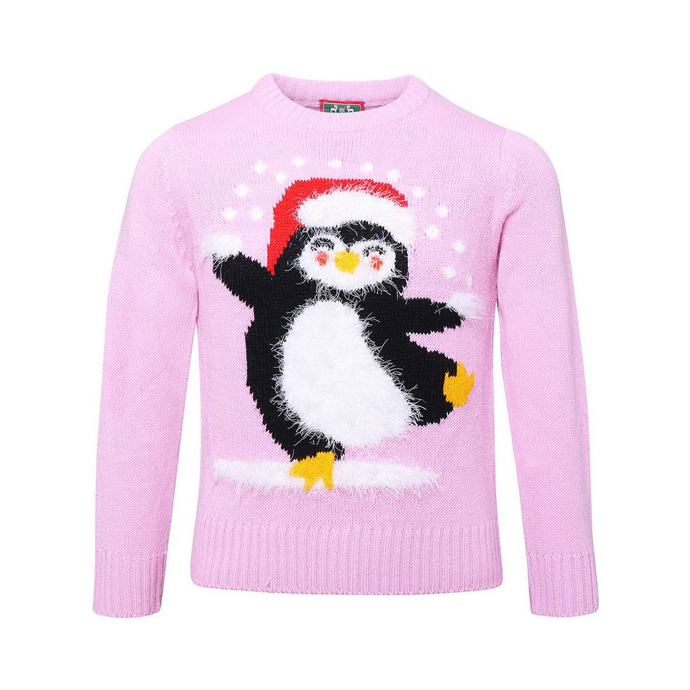 Kids Yarn Penguin Christmas Jumper - Ages 2-12 Years