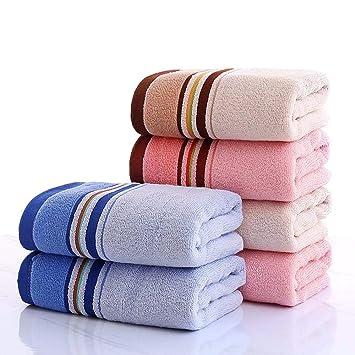 LOF-fei Toallas de Lavabo/Toallas de Mano en Ducha de algodón (Paquete de 6,74x33cm) Espesar Suave y Absorbente Adultos Hombres y Mujeres toallitas, ...