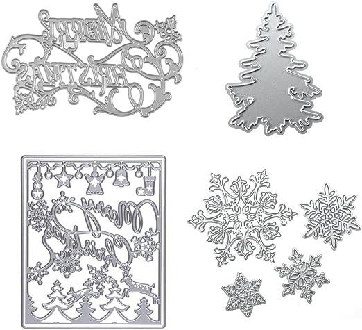 4pcs Set Xmas Metal Cutting Dies Stencil DIY Embossing Dies Christmas Card