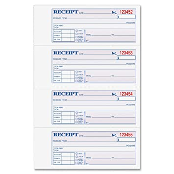 Amazon.Com : Adams Money And Rent Receipt Book, 3-Part, Carbonless