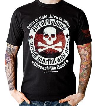 MMA Muay Thai Kick Boxing Born to Black Fight-Camiseta de manga corta, color
