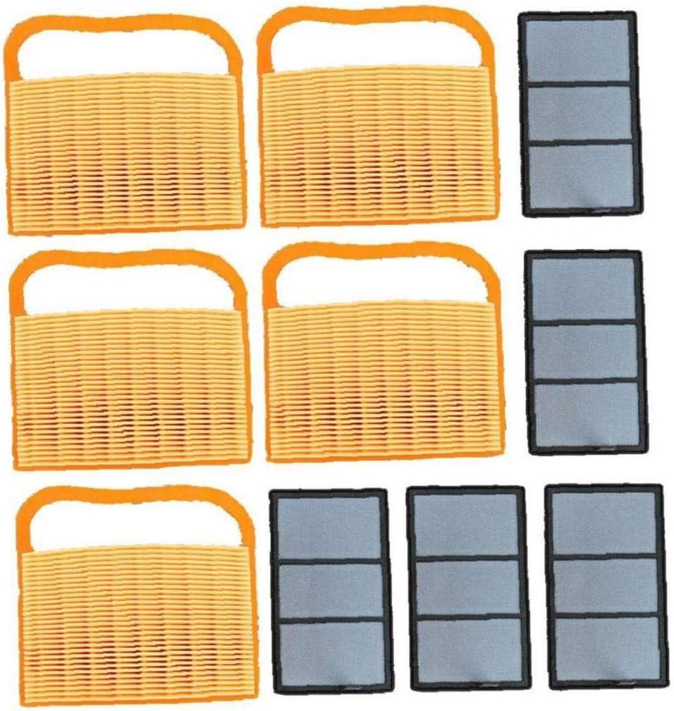 5 Set Luftfilter mit Pre Filter auswechseln f/ür Stihl TS410 TS420 TS 420 TS 410 Motor austauschen 4238 141 0300 Rasenm/äher Teile /& Zubeh/ör