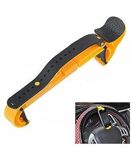 Gosear Se monta celular inteligente soporte para teléfono móvil de múltiples funciones en el volante para el coche amarillo de la bici